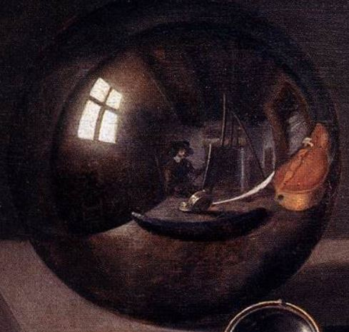 Pieter Claesz Vanitas with Violin and Glass Ball 1625 boule