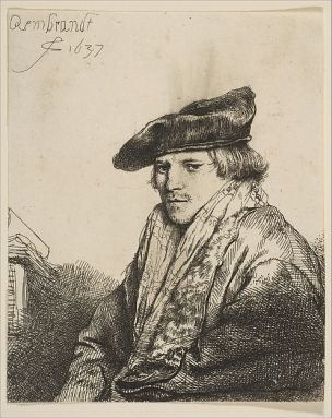 Rembrandt 1637 Young Man in a Velvet Cap (Ferdinand Bol)