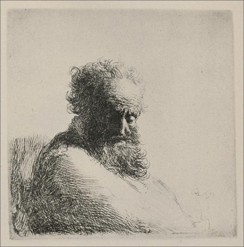 Rembrandt Bust of Old Man