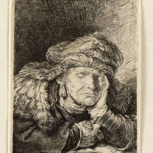 Rembrandt Old Woman Sleeping c. 1635-c. 1637