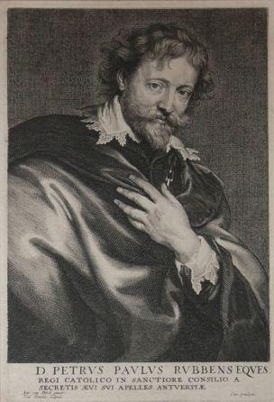 Rubens, gravure de Poyius, d'après Van Dyck debut XVIIeme