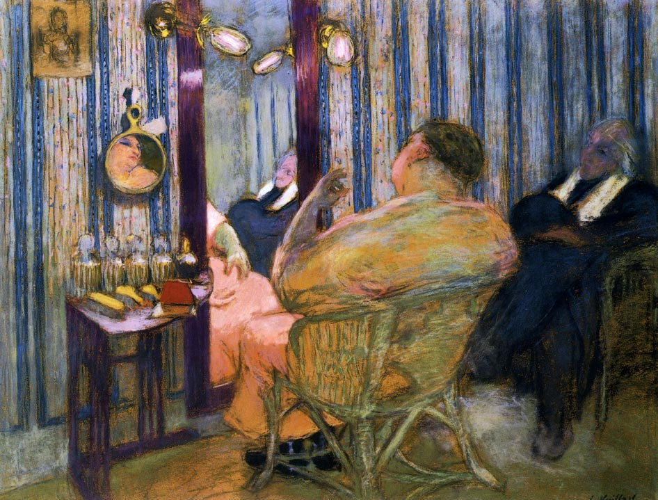 Sacha Guitry in His Dressing Room with first wife Charlotte Lyses Edouard Vuillard 1912 coll priv