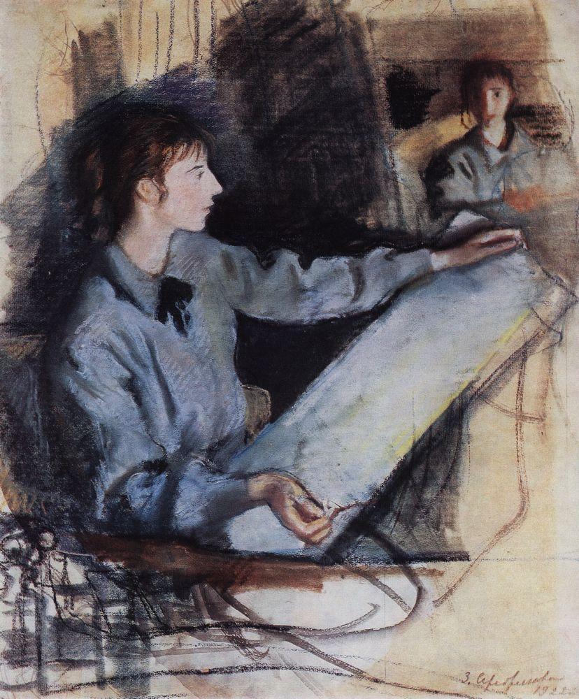 Self-portrait - Zinaida Serebriakova 1922