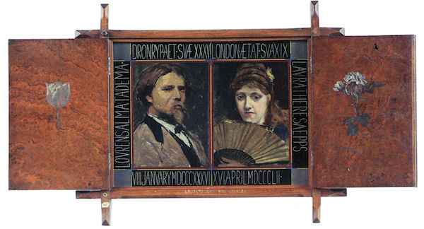 Self-portrait by Lawrence Alma-Tadema and Laura Theresa Epps by Alma-Tadema 1871