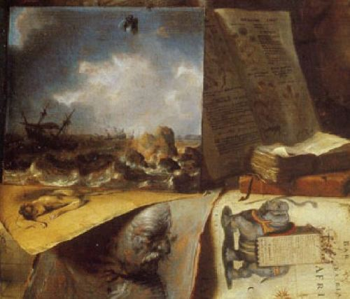 Simon_Luttichuys_-_Corner_of_a_painters_studio_-_1646-Collezione-Teresa-Hainz-·-Pittsburgh detail mouche
