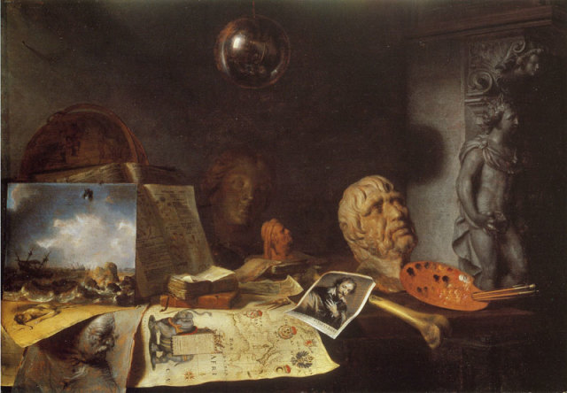 Simon_Luttichuys_-_Corner_of_a_painter's_studio_-_1646 Collezione Teresa Hainz · Pittsburgh.