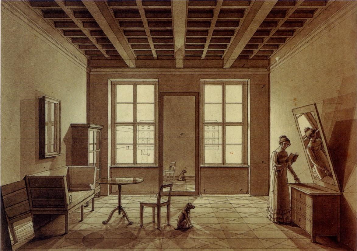 Sitting Room by Johann Erdmann Hummel circa 1820