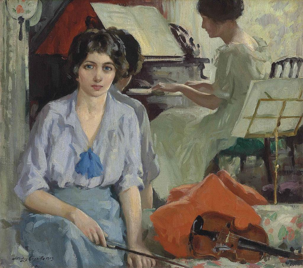 Stanley Cursiter - Musicians (1923)