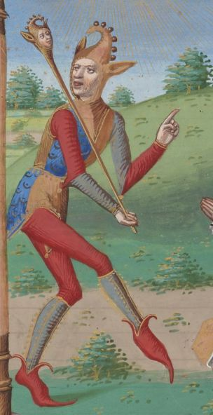 Un Fou Psalterium Caroli VIII regis (detail) - 1401-1500, Bibliotheque nationale de France