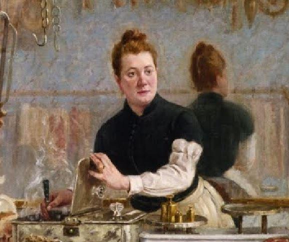 Une boutique de charcuterie Dambourgez 1886 detail