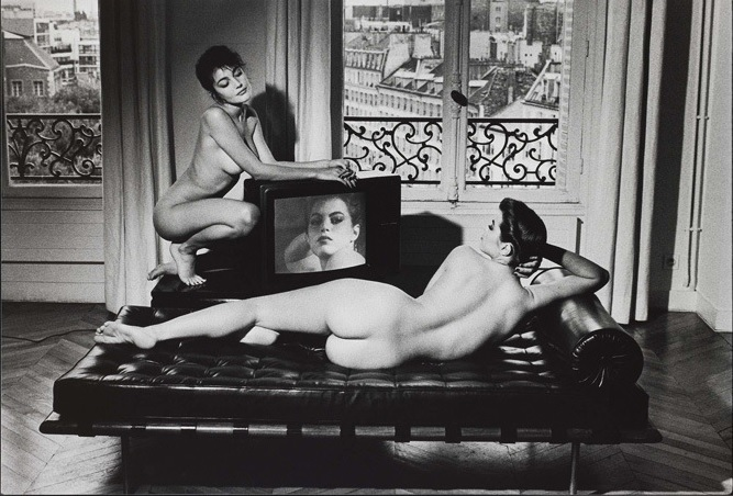 Velasquez in my apartment, Helmut Newton, 1981