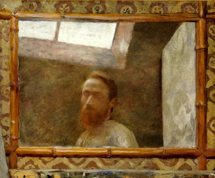 Vuillard , Autoportrait au miroir bambou. 1890 collection privee
