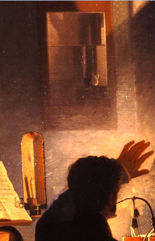 Wilhelm_Bendz_-_A_Smoking_Party_1827 28 miroir fumée