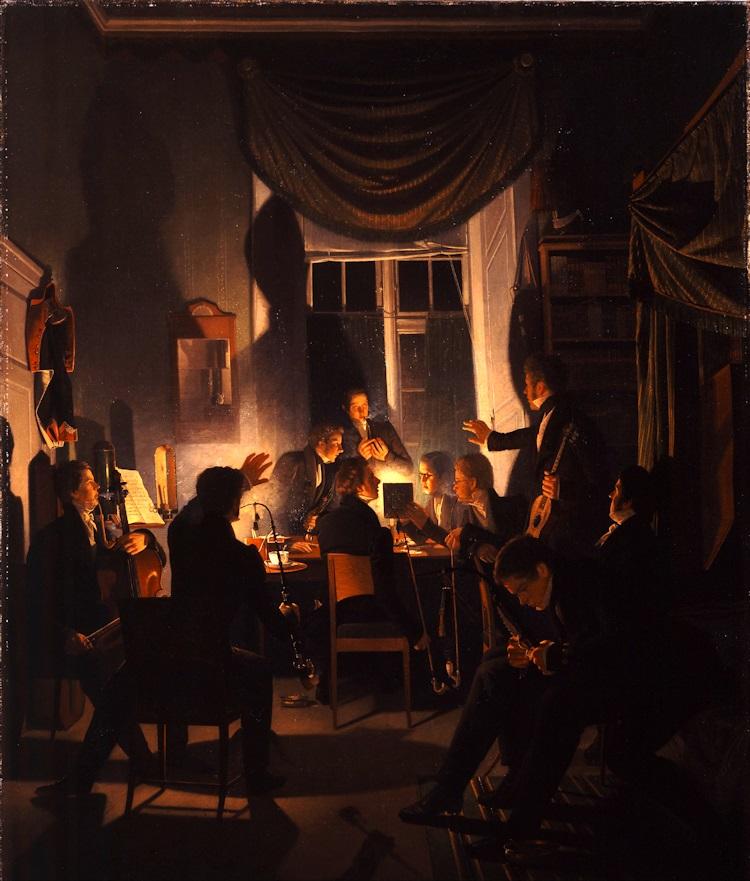 Wilhelm_Bendz_-_A_Smoking_Party_1827 28