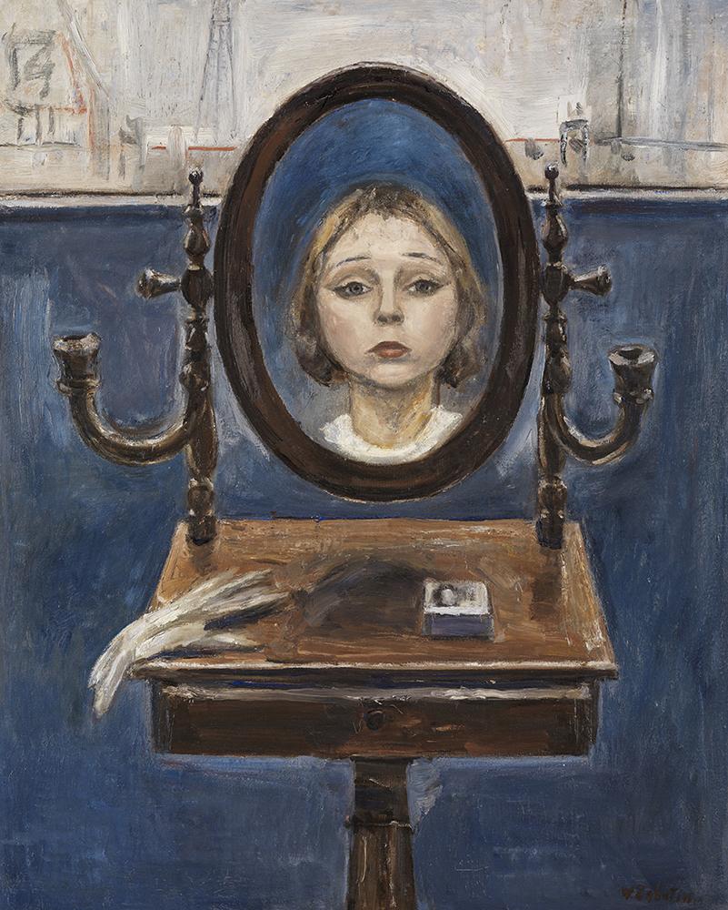 Wladimir-Lukianowitsch-von-Zabotin-The-girl-in-the-mirror-1922-27-.kunsthalle-karlsruhe