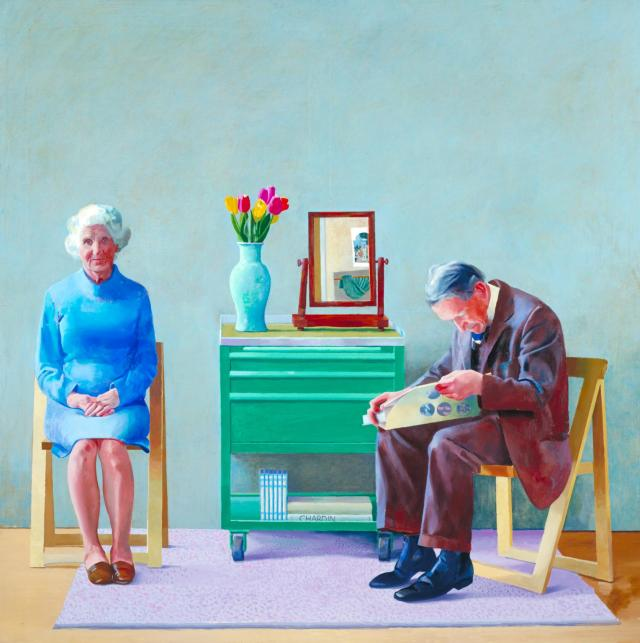 My Parents 1977 by David Hockney born 1937