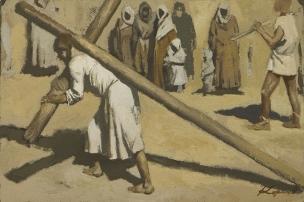 geliy korzhev Portement de croix 2007,