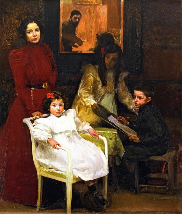 joaquin-sorolla-y-bastida-Ma famille 1901 Valencia, Museo de la Ciudad, Ayuntamiento