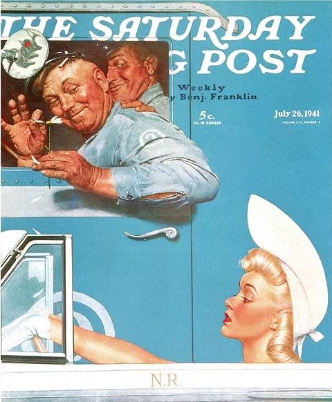 norman-rockwell-the flirts-saturday-evening-post-cover-july-26-1941