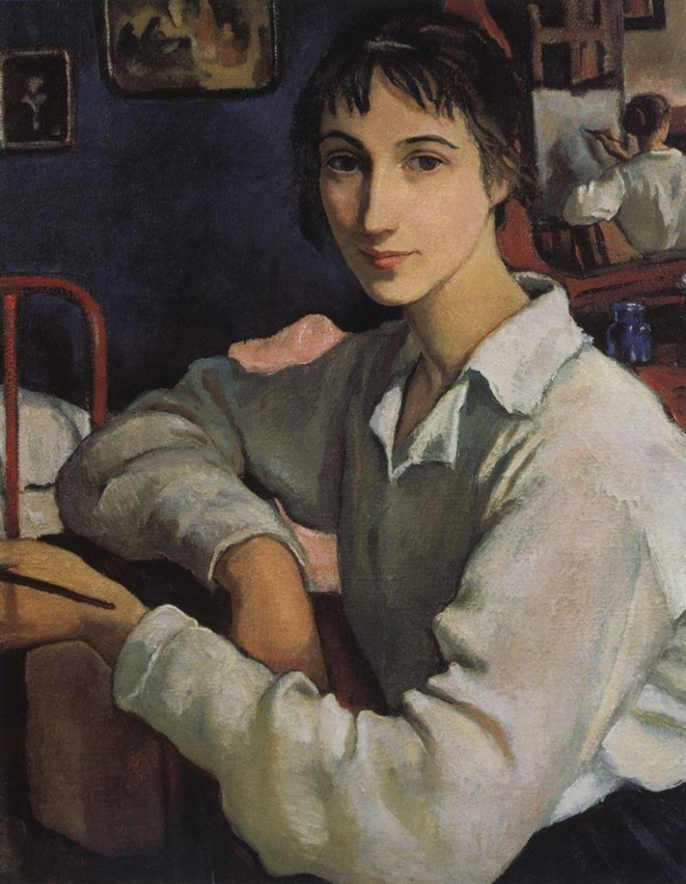 self-portrait-in-a-white-blouse-1922