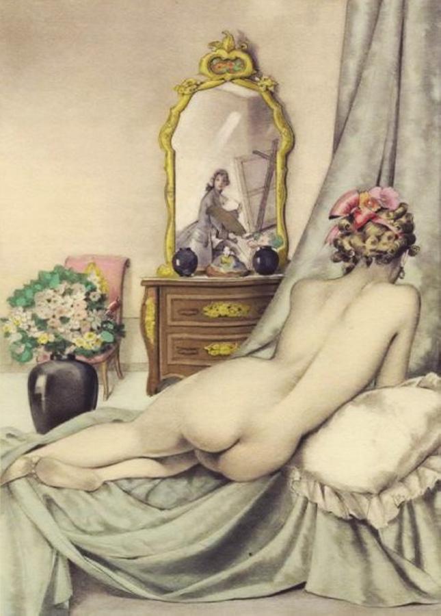 umberto brunelleschi Illsutration pour Casanova 1950 Gibert Jeune