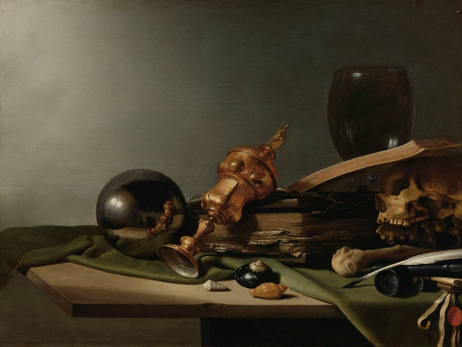 vanitas-still-life-with-crystal-ball-pieter-claesz-1634 Getty Museum