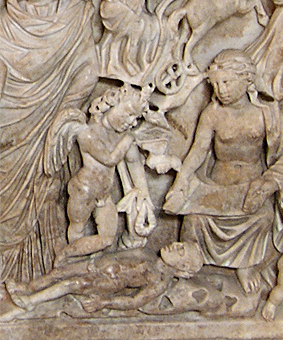 Sarcophage de Promethee Eros