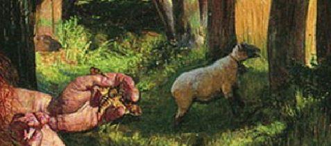 William_Holman_Hunt The hirelong shepherd papillon
