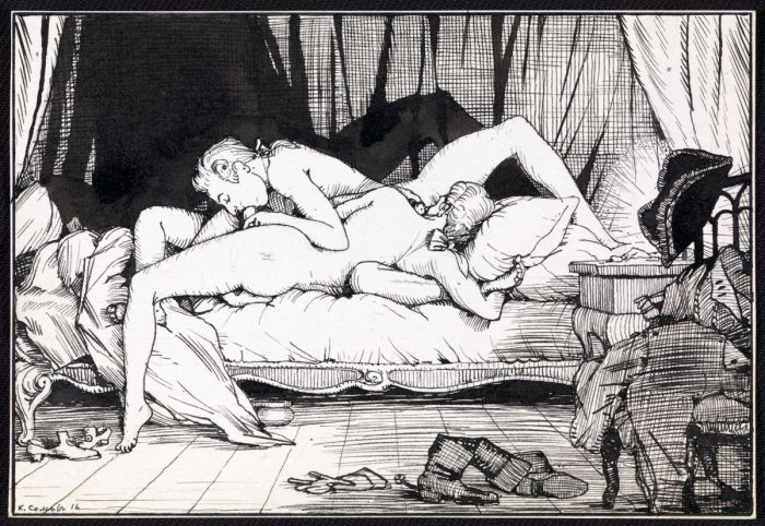 1916 Somov Illustration from Le livre de la Marquise