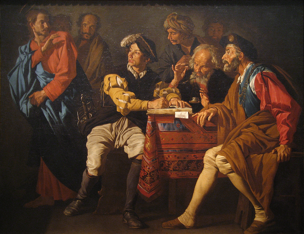 Matthias Stomer The Calling of Saint Matthew circa 1629