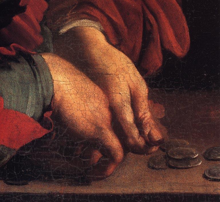 The_Calling_of_Saint_Matthew-Caravaggio_1599-1600 mains