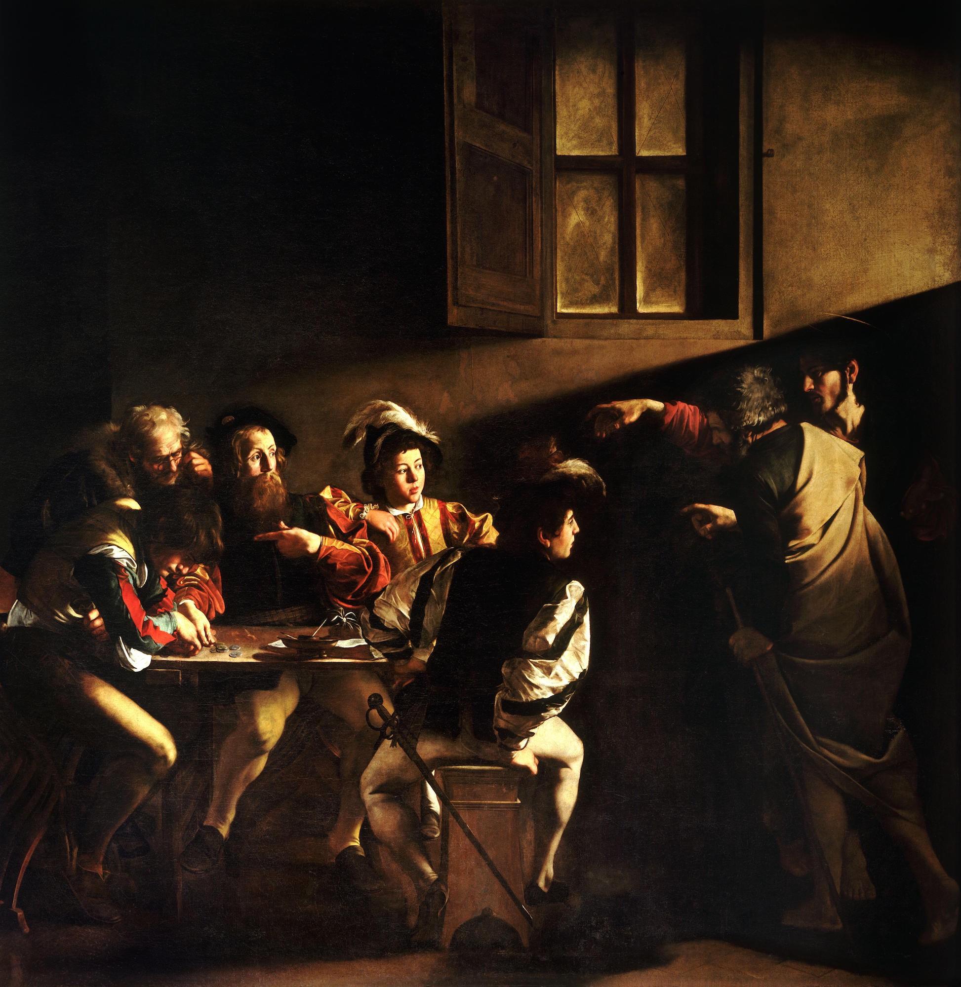 The_Calling_of_Saint_Matthew-Caravaggio_1599-1600