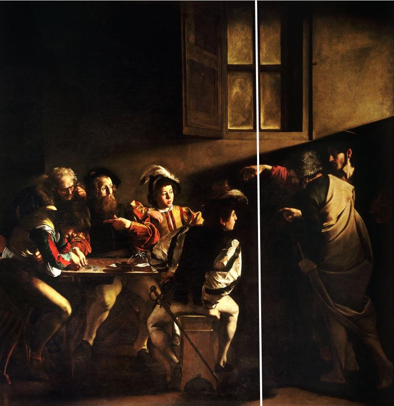 The_Calling_of_Saint_Matthew-Caravaggio_1599-1600_schema1