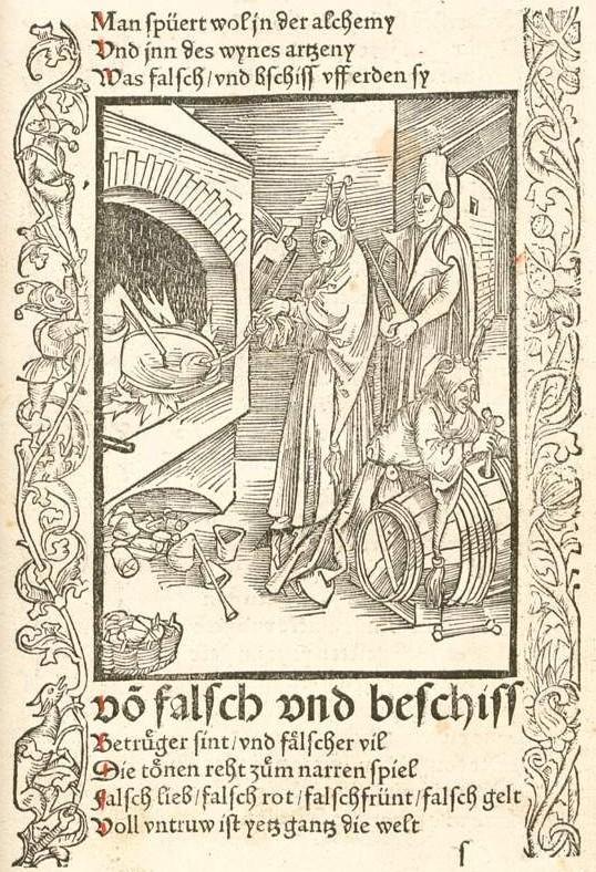 Das Narrenschiff. - Der Alchimist als Narr 1494