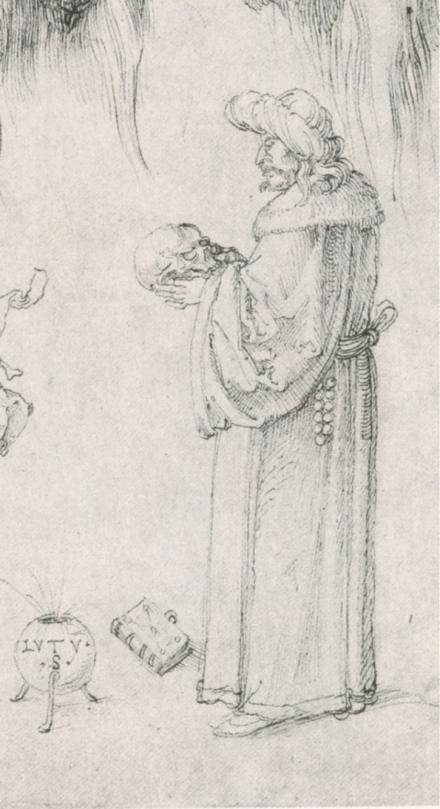 Durer 1506 Lutus detail