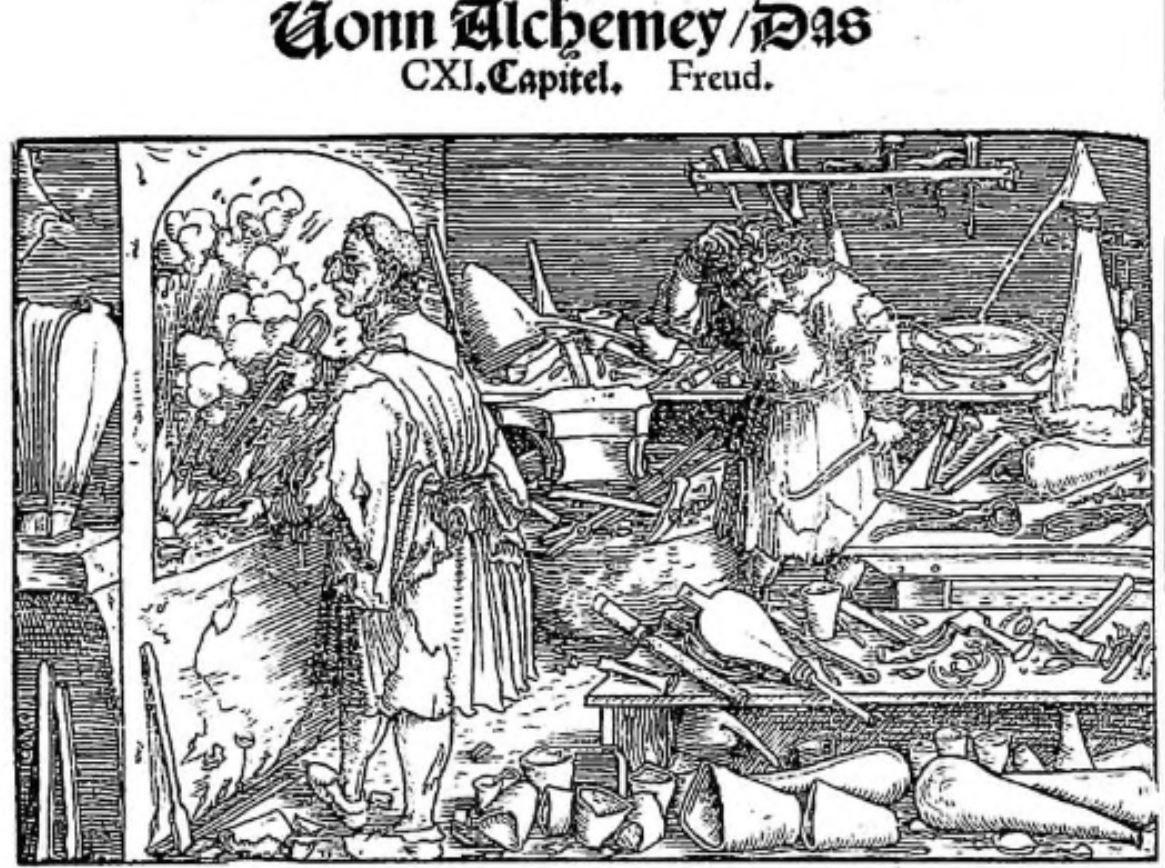 L'Alchimie Von der Artzney Bayder Gluck des guten und widerwertigen 1532