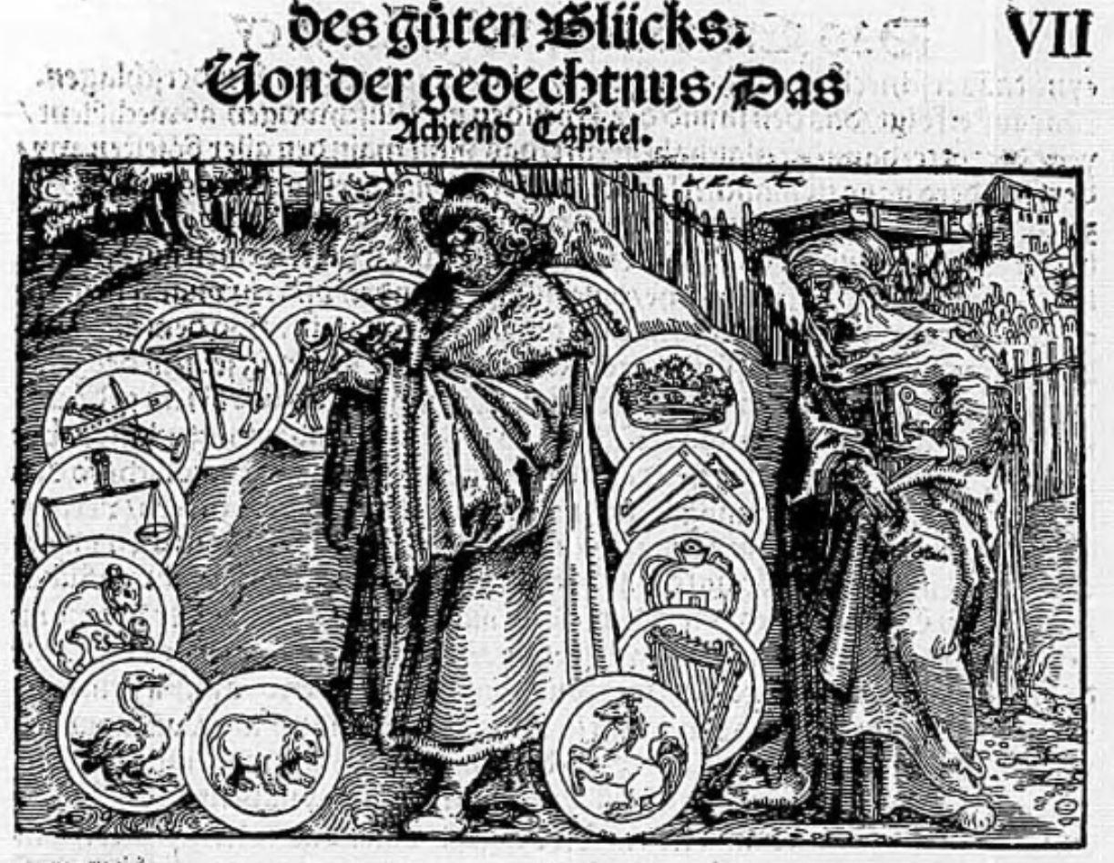 La Memoire Von der Artzney Bayder Gluck des guten und widerwertigen 1532