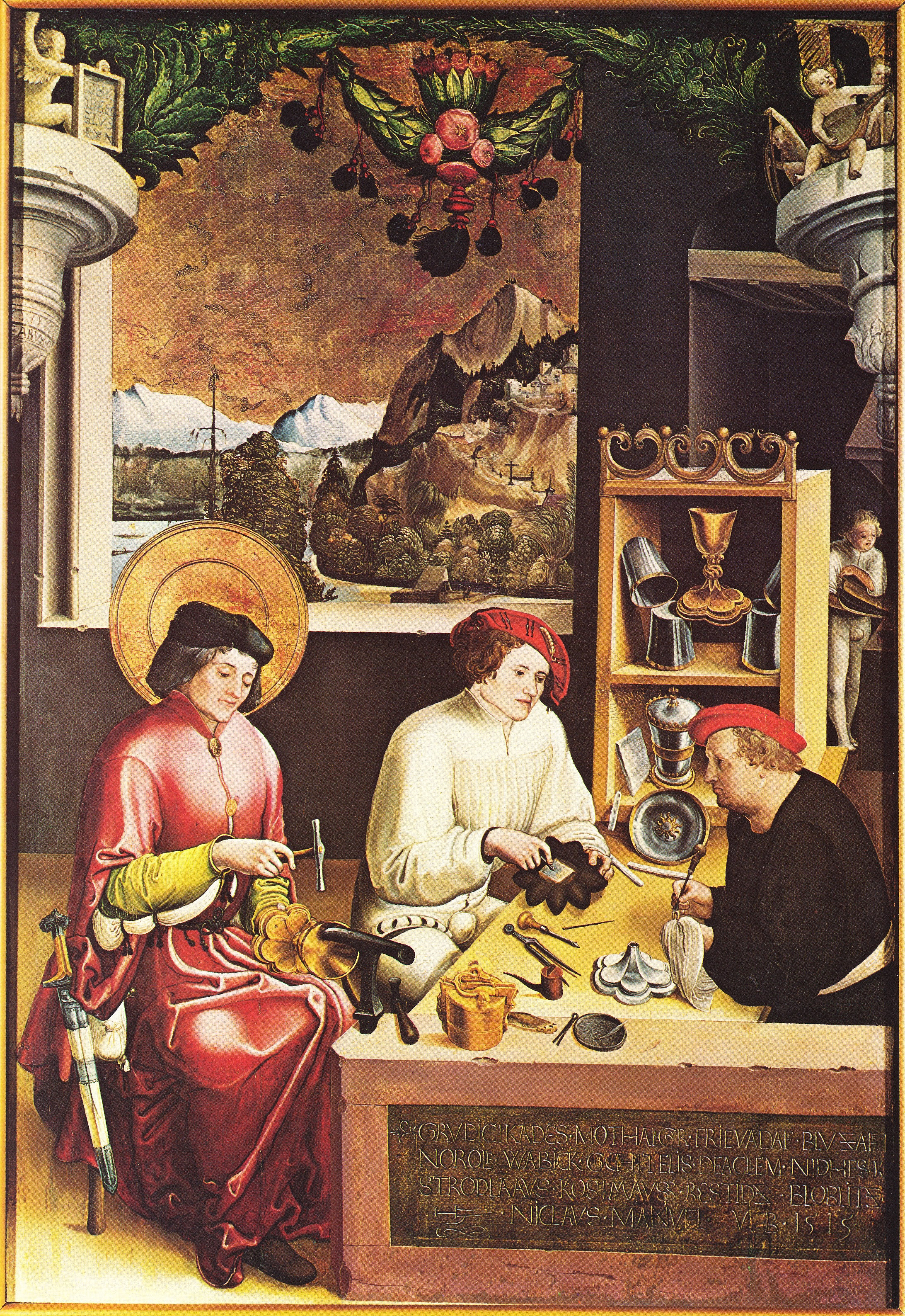Niklaus Manuel Deutsch- Saint Eloi dans son atelier_1515