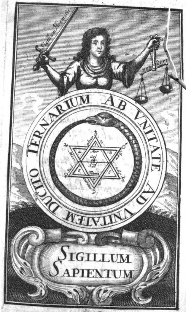 le Lut de Sapience frontispice du Philalethes Illustratus de Michael Faust Frankfurt, 1706