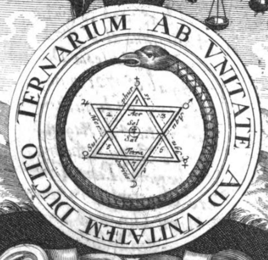 le Lut de Sapience  frontispice du Philalethes Illustratus de Michael Faust Frankfurt, 1706 centre