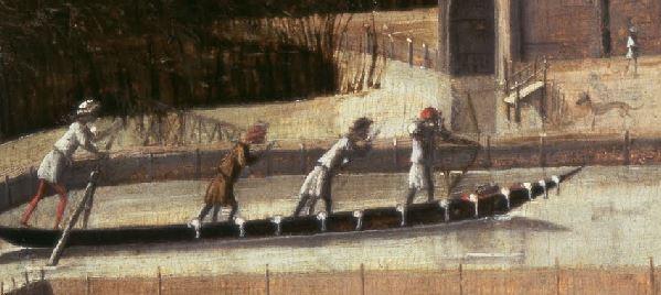 1500 (ca) Carpaccio chasse sur la lagune detal