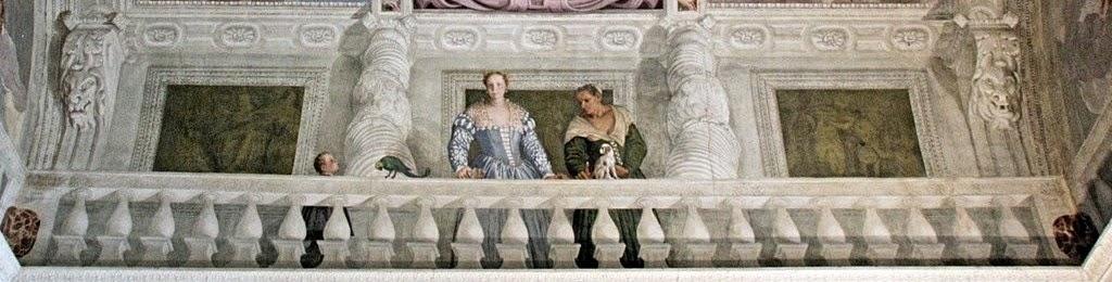 1560-61 giustiniana-giustiniani-with-wetnurse-by-Veronese villa barbaro maser salle de l olimpio cote est