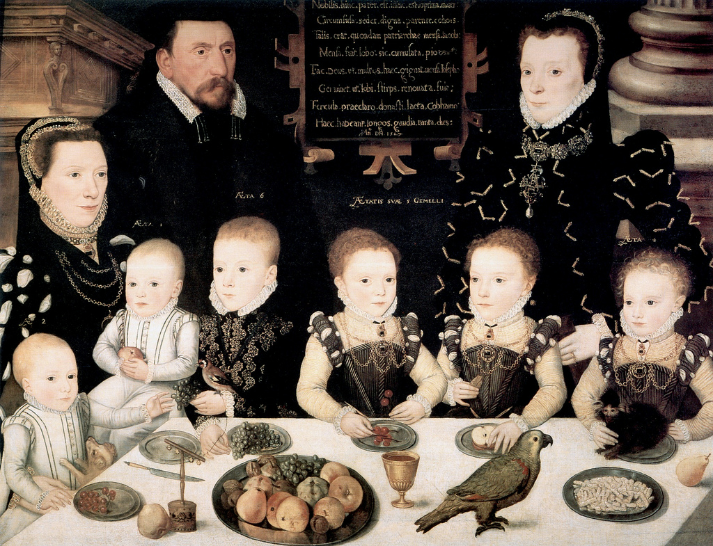 1567 England.William Brooke, 10th Lord Cobham and his family Longleat House Collection