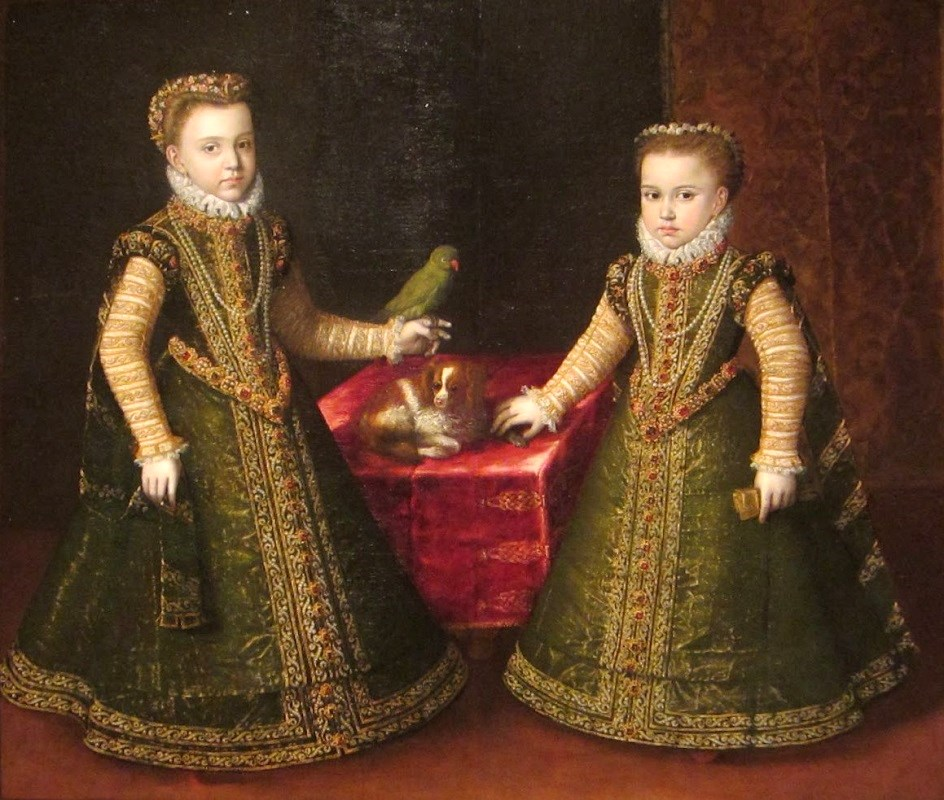 1570 Sofonisba Anguissola (1532-1625) Catherine Michelle (Infanta Catalina Micaela of Spain ) and Isabella Clara Eugenia