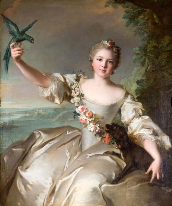 1738 portrait-de-mathilde-de-canisy-marquise-dantin---nattier