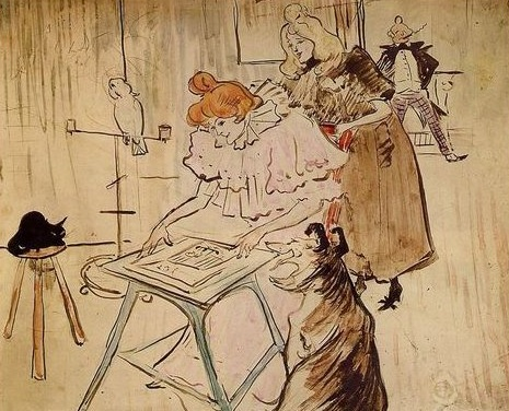 1898 Henri De Toulouse Lautrec, front cover of The Motograph Moving Picture Book 1898 private collection