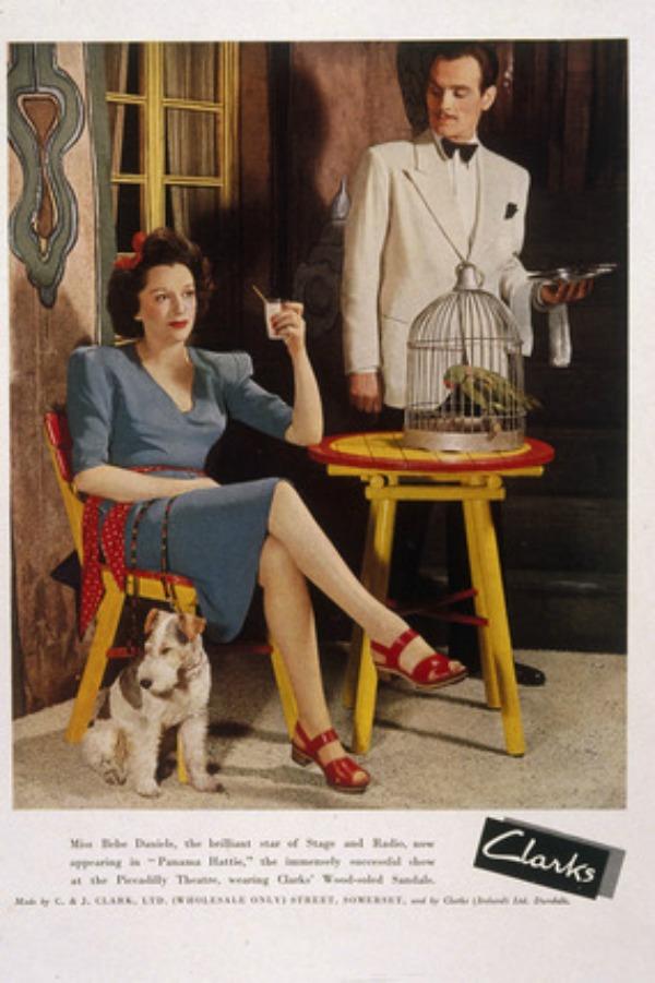 1942 Publicite avec Bebe Daniels pour les chaussures Clarks