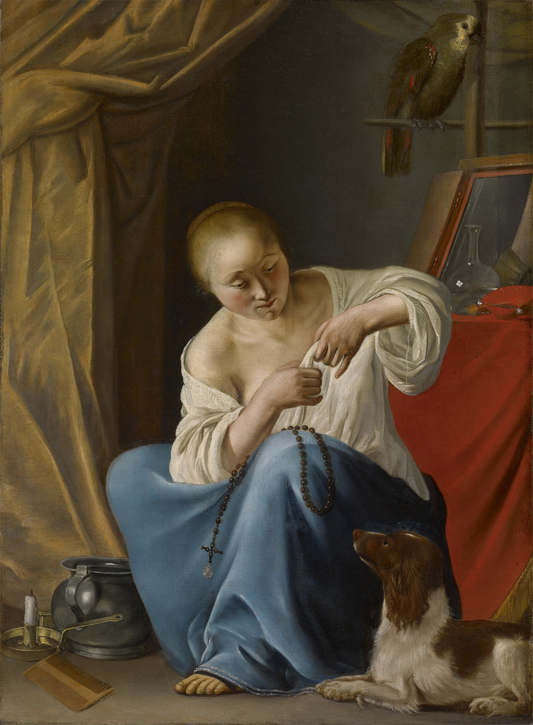 Campen, Van, Jacob Woman making her toilet 1650-55 bredius museum La Haye