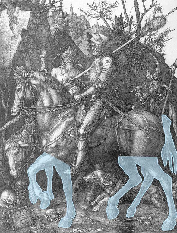 Durer chevalier et Mort etat transitoire 1