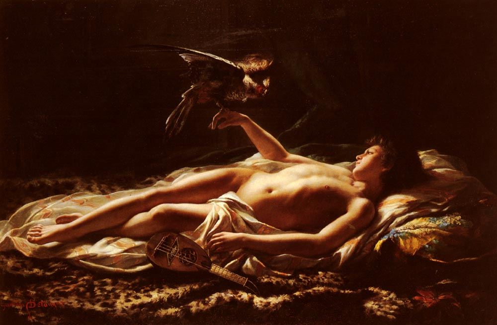 Germain Detanger 1882 le fauconnier